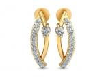 עגילי יהלומים תלויים לאישה