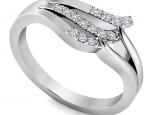 טבעת יהלומים לאישה- טבעת טוויסט