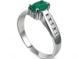 טבעת וינטג' קלאסי עם אבן חן מרכזית אמרלד/ברקת או אבני חן בצבעים שונים