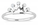 טבעת זהב ויהלומים בעיצוב כתר