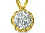 תליון זהב עם יהלום גדול
