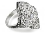 טבעת עיצוב ענטיק פיליגרי זהב ויהלומים טבעות וינט'ג
