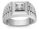 טבעת יהלומים לגבר- 3/4 קארט מרכזית