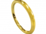 טבעת נישואין דקה ופשוטה לגבר ולאישה