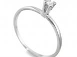 טבעת אירוסין סוליטר קלאסית וזולה עם בית אבן גבוה יהלום קטן