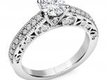 טבעת אירוסין יוקרתית 0.50 נקודות- עיצוב וינטג'