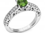 טבעת אירוסין יוקרתית אבן חן מרכזית- עיצוב וינטג'