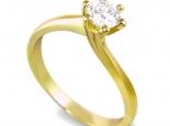 """טבעת קלאסית להצעת נישואין, בסגנון """"טוויסט"""" 6 שיניים ליהלום של 20 נקודות - """"ORION"""""""