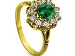 טבעת וינטז דיאנה עם אבן רובי אמרלד או ספיר,