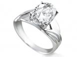 טבעת אופנתית ליהלום 3 קארט