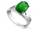 טבעת אופנתית לאבן חן מרכזית 3 קארט מסוגים שונים Emerald Ruby  Sapphire