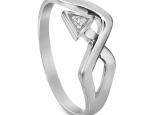 טבעת זהב בעיצוב חץ ויהלום