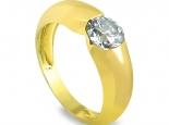 """טבעת סוליטייר בעיצוב חלק יהלום שקוע - """"UNIVERSE"""""""