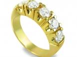 טבעת אירוסין/נישואין יהלומים בעיצוב קלאסי עם אבנים גדולות 1.5 קראט