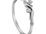 טבעת זהב ויהלומים עדינה ויפה