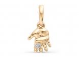 תליון יהלום מתנה ליולדת - תליון יד תינוק