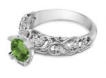 טבעת יהלומים בסגנון עתיק- טבעת וינטג'- אבן חן מרכזית