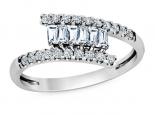 טבעת טוויסט יהלומים