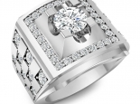 טבעת יהלומים לגבר אחד קארט