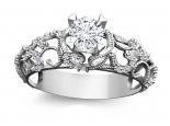 טבעת יהלומים בעיצוב וינטג' לאישה- 0.30 נקודות מרכזית