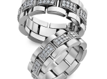 טבעת חוליות משובצת יהלומים לגבר