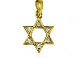 מגן דויד זהב ויהלומים לשרשרת