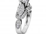טבעת בעיצוב עתיק- 3/4 קארט מרכזית