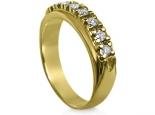 טבעת יהלומים 7 יהלומים