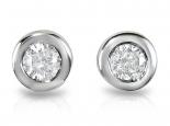 """עגילי יהלומים צמודים לאוזן אבנים מרכזיות 0.10 קראט בכל צד בשיבוץ """"בייגלה"""" - """"UNIVERSE"""""""