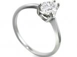 טבעות יהלום טבעת סוליטר ליהלום מרכזי בצורת טיפה