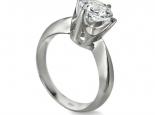 טבעת יהלום סוליטר יהלום 1 קארט 100 נקודות