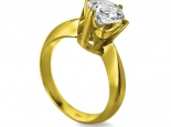 טבעת יהלום סוליטר יהלום 1 קארט 100 נקודות זהב צהוב