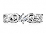טבעת יהלום בעיצוב וינטג'- 1 קראט מרכזית