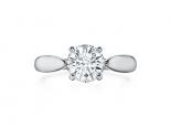 טבעת זהב לבן בעיצוב מיוחד חצי קרט יהלום