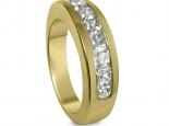 טבעות יהלומים זהב צהוב לגבר ולאישה