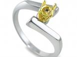טבעת אירוסין סוליטר לשיבוץ אבן 0.25 קראט