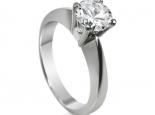 טבעת זהב ויהלום סוליטר לאירוסין יהלום מרכזי 1/2 קארט