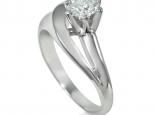 טבעת אירוסין בעיצוב מיוחד עם יהלום חצי קארט 1/2 קארט