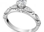 טבעת יהלום- טבעת וינטג'- 3/4 קראט מרכזית