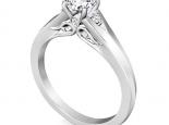 טבעת וינטג' לאישה- 1 קראט מרכזית