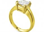 טבעת זהב מיוחדת ליהלום מרובע גדול
