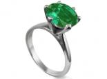 טבעת סוליטר קלאסית עם אבן חן גדולה 1 קארט רובי ספיר אמרלד ברקת