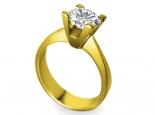 טבעת יהלום 1 קארט להצעת אירוסין זהב זהוב