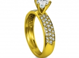 טבעות אירוסין רחבות - טבעת יהלום בגודל חצי קארט
