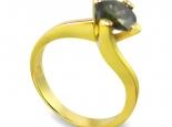 """טבעת יהלום סוליטר בעיצוב עם קימורים עדינים ושיבוץ 4 שיניים - """"ORION"""""""