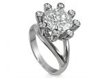 טבעת ליהלום 5 קארט בעיצוב מיוחד