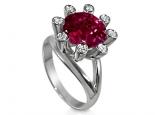 טבעת לאבן חן רובי 5 קארט בעיצוב מיוחד