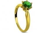 טבעת אירוסין פשוטה 1 קרט אבן חן רובי אמרלד או ספיר
