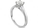 טבעת אירוסין זהב עם יהלום קרט 1 משובץ בעיצוב עדין ומיוחד