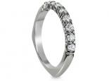 טבעת יהלומים משובצת  9 יהלומים טבעת בעיצוב מיוחד